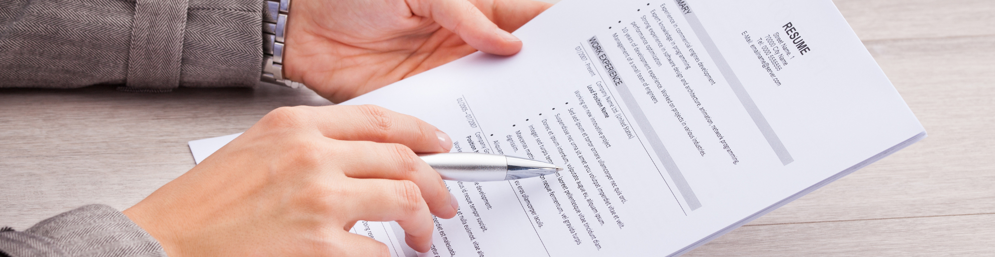 Resume Writing   Groupe Priorité Travail